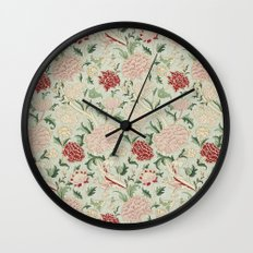 William Morris Cray Floral Pre-Raphaelite Vintage Art Nouveau Pattern Wall Clock