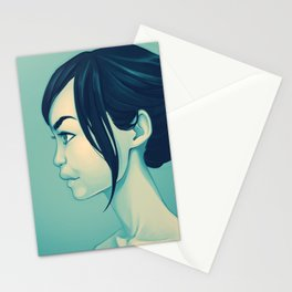 Eurasian profile - alt. version Stationery Cards