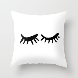 Closed Eyes MINIMAL I Throw Pillow