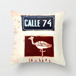 Calle 74 Throw Pillow