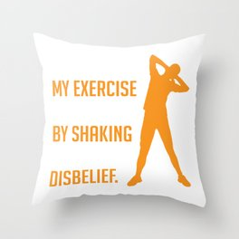 Exercise Disbelief Senior Citizen or Eldery person Gift Throw Pillow