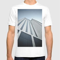 375 Pearl MEDIUM White Mens Fitted Tee