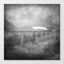 """Glenfinnan b&w"" Canvas Print"