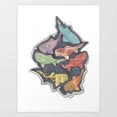 Newspaper Fish Art Print