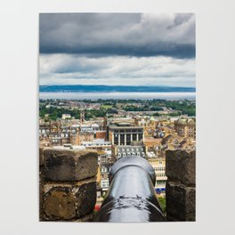 View of Edinburgh, Scotland from Edinburgh Castle Poster