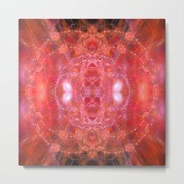Fiery jewels fractal beauty Metal Print