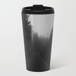 Dark Road + Trees Travel Mug