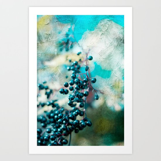 PICTORIAL BERRIES Art Print