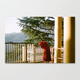 Pondering Monk Canvas Print