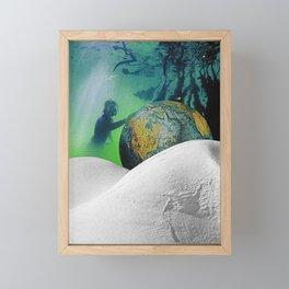 Underwater Planet Framed Mini Art Print
