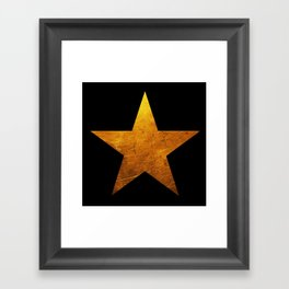 Hamilton Star Framed Art Print