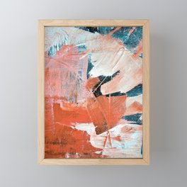 Interrupt [3]: a pretty minimal abstract acrylic piece in pink white and blue by Alyssa Hamilton Art Framed Mini Art Print