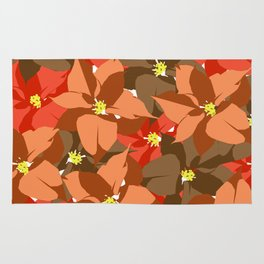 Poinsettia Love Rug