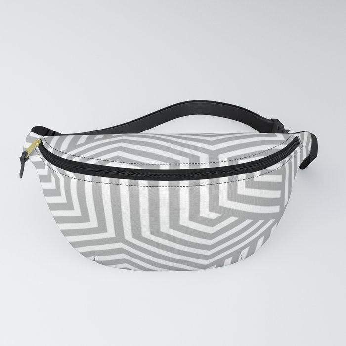 Silver chalice - grey - Minimal Vector Seamless Pattern Fanny Pack