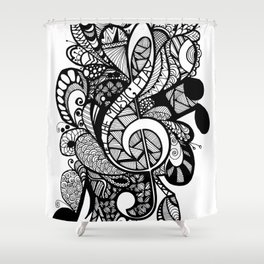 Let the music play! Shower Curtain