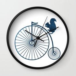 Squirrel on a high wheel Wall Clock