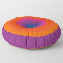 Retro Bullseye Pattern Floor Pillow