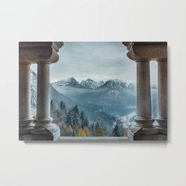 The view - Neuschwanstin casle Metal Print