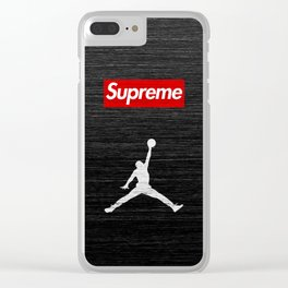 air jordan supreme Clear iPhone Case