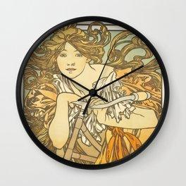 Alphonse Maria Mucha - Cycles Perfecta Wall Clock