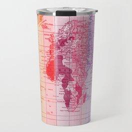 Rainbow World Map Travel Mug