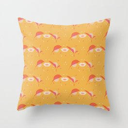 Sexy lips feminine leaves Throw Pillow