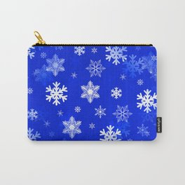 Light Blue Snowflakes Carry-All Pouch
