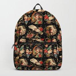 Makers Gonna Make Pattern Black Backpack