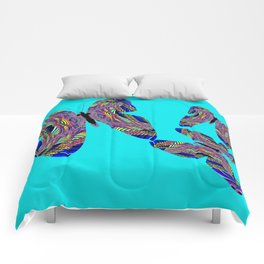 Butterfly Blue Comforters