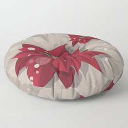 Poinsettias - Christmas flowers | BG Color I Floor Pillow