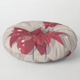 Poinsettias - Christmas flowers | BG Color I Floor Pillow