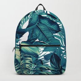 dark green luxury tropical leaves pattern the future is green Backpack