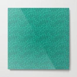 Dark turquoise abstract pattern . Metal Print