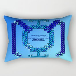 Blue Lantern Symbol & Oath Rectangular Pillow