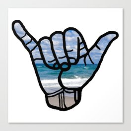 Beach Hang Loose Canvas Print