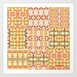CALICO SUN QUILT Art Print