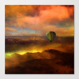 Sunset with Balloon Canvas Print