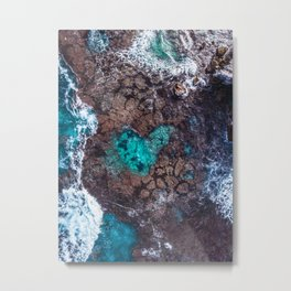 Love Reef - Wall Art, Print, Aerial Photography, Drone, Home Decor, Aerial, Poster, Digital Print Metal Print