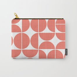 Mid Century Modern Geometric 04 Living Coral Carry-All Pouch