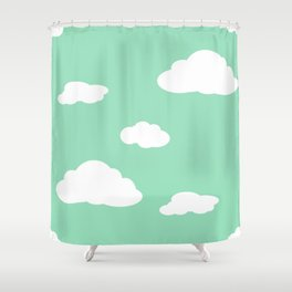 Paper Airplanes - You Can Fly - Cloud Variation - Julep Shower Curtain