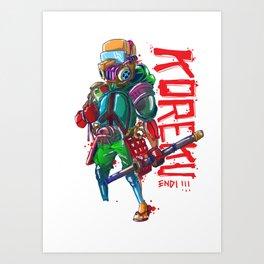 KOREKU Art Print
