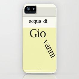 Italian Name - GIOVANNI iPhone Case