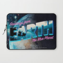 Greetings from Earth, The Blue Planet Laptop Sleeve