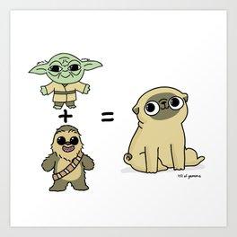 The origin of pugs Art Print