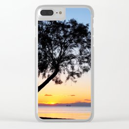 Peraia Spring Sunset Clear iPhone Case
