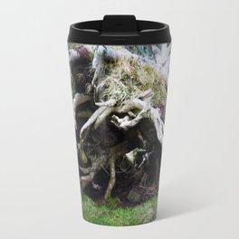 The enchanted fallen tree Travel Mug