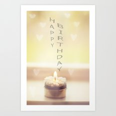 Happy birthday wishes Art Print
