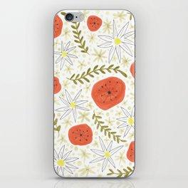 fun floral print iPhone Skin