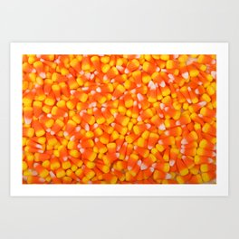 Background of Traditional Candy Corn Art Print