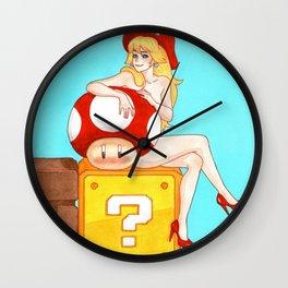 Princess Peach from Mario Wall Clock